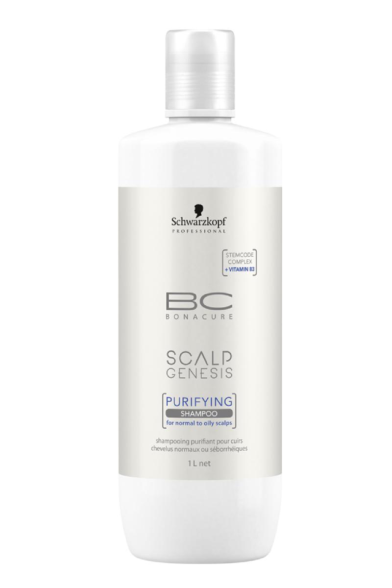 Очищающий шампунь для волос Schwarzkopf Professional Bonacure Scalp Genesis, 1000 мл schwarzkopf professional бонакур блеск шампунь с розовым маслом для кожи головы и волос 200 мл