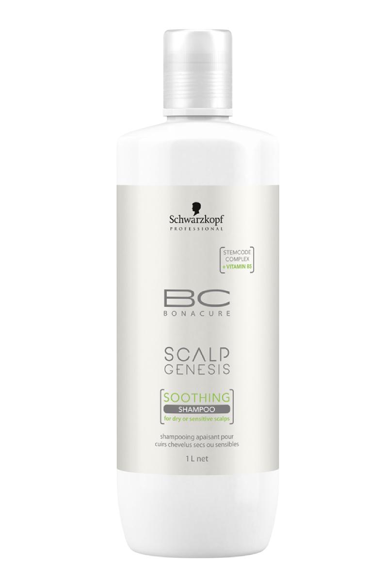 Шампунь для волос Schwarzkopf Professional Bonacure Scalp Genesis, для сухой и чувствительной кожи, 1000 мл schwarzkopf bc bonacure scalp genesis soothing shampoo шампунь для сухой и чувствительной кожи 1000 мл