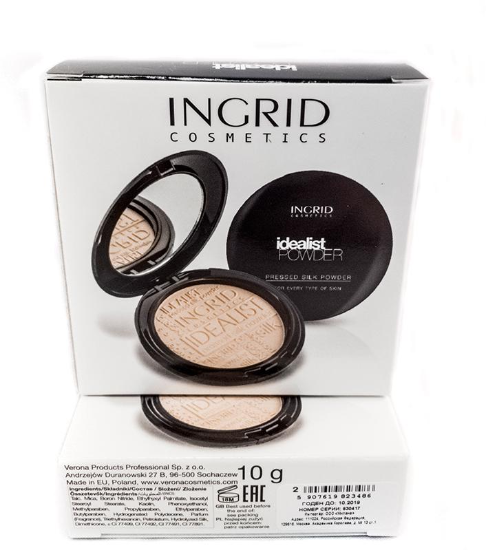 Verona Products Professional Ingrid Cosmetics Компактная пудра, Тон №2, цвет: бежевый, 9,8 г verona products professional ingrid cosmetics губная помада тон 297 цвет светло розовый 4 г