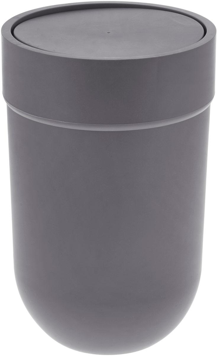 Контейнер мусорный Umbra Touch, с крышкой, цвет: серый, 25,4 х 19 х 19 см контейнер мусорный touch umbra контейнер мусорный touch