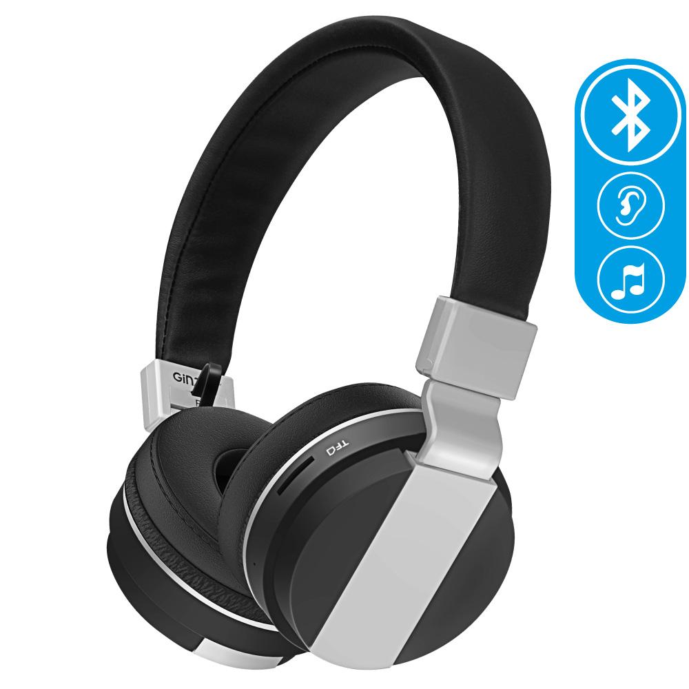 цены на Беспроводные наушники Ginzzu Headphone GM-351BT, черный  в интернет-магазинах