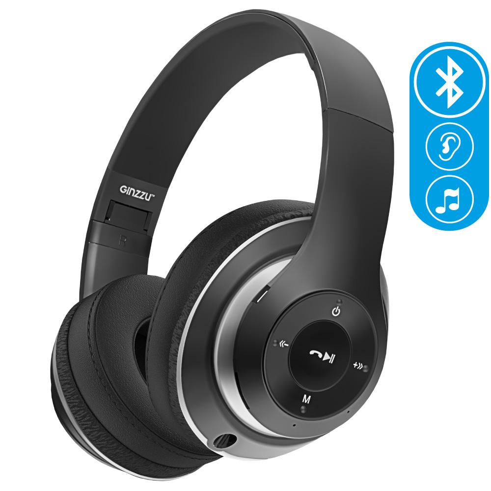 цены на Беспроводные наушники Ginzzu Headphone GM-451BT, черный  в интернет-магазинах
