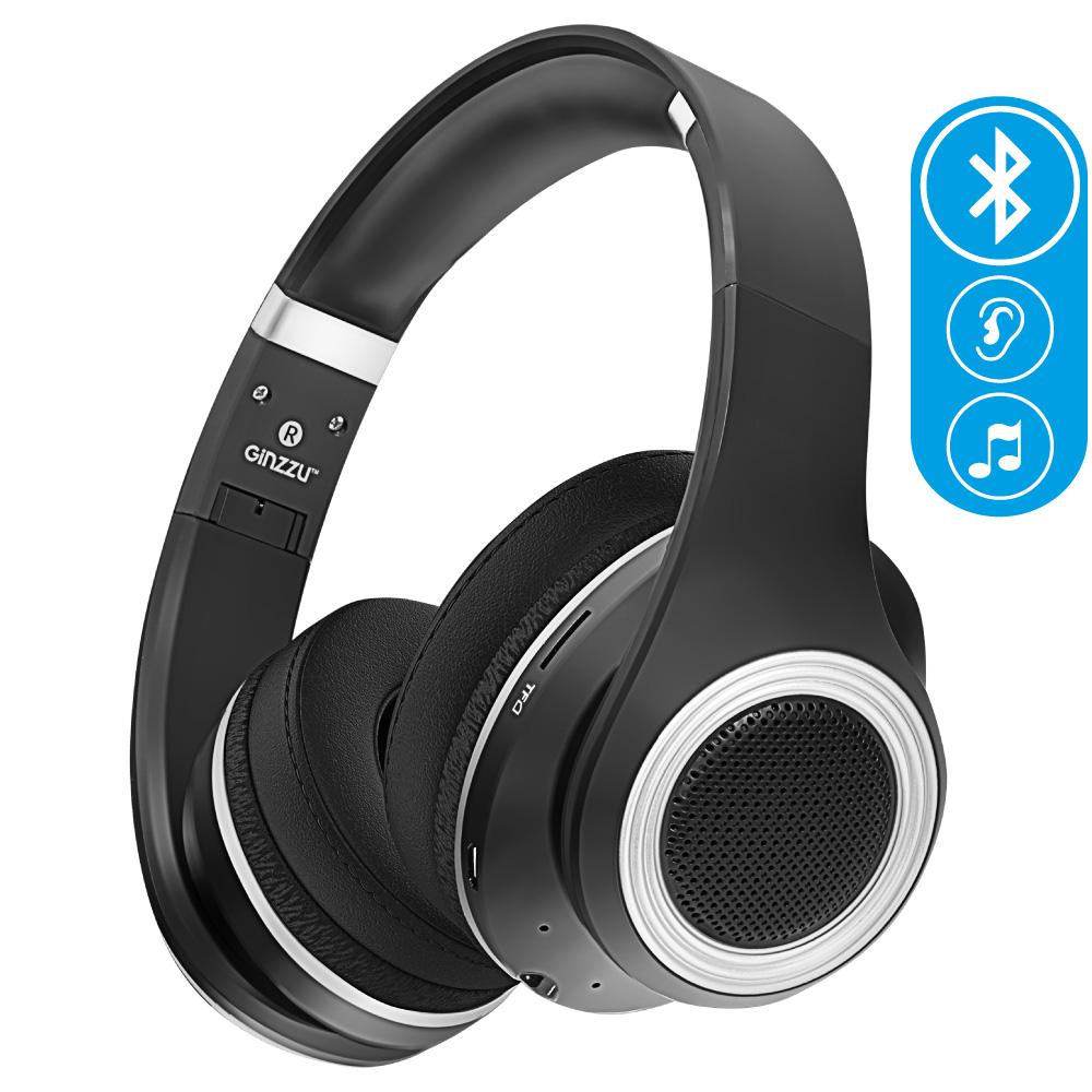 цены на Беспроводные наушники Ginzzu Headphone GM-651BT, черный  в интернет-магазинах