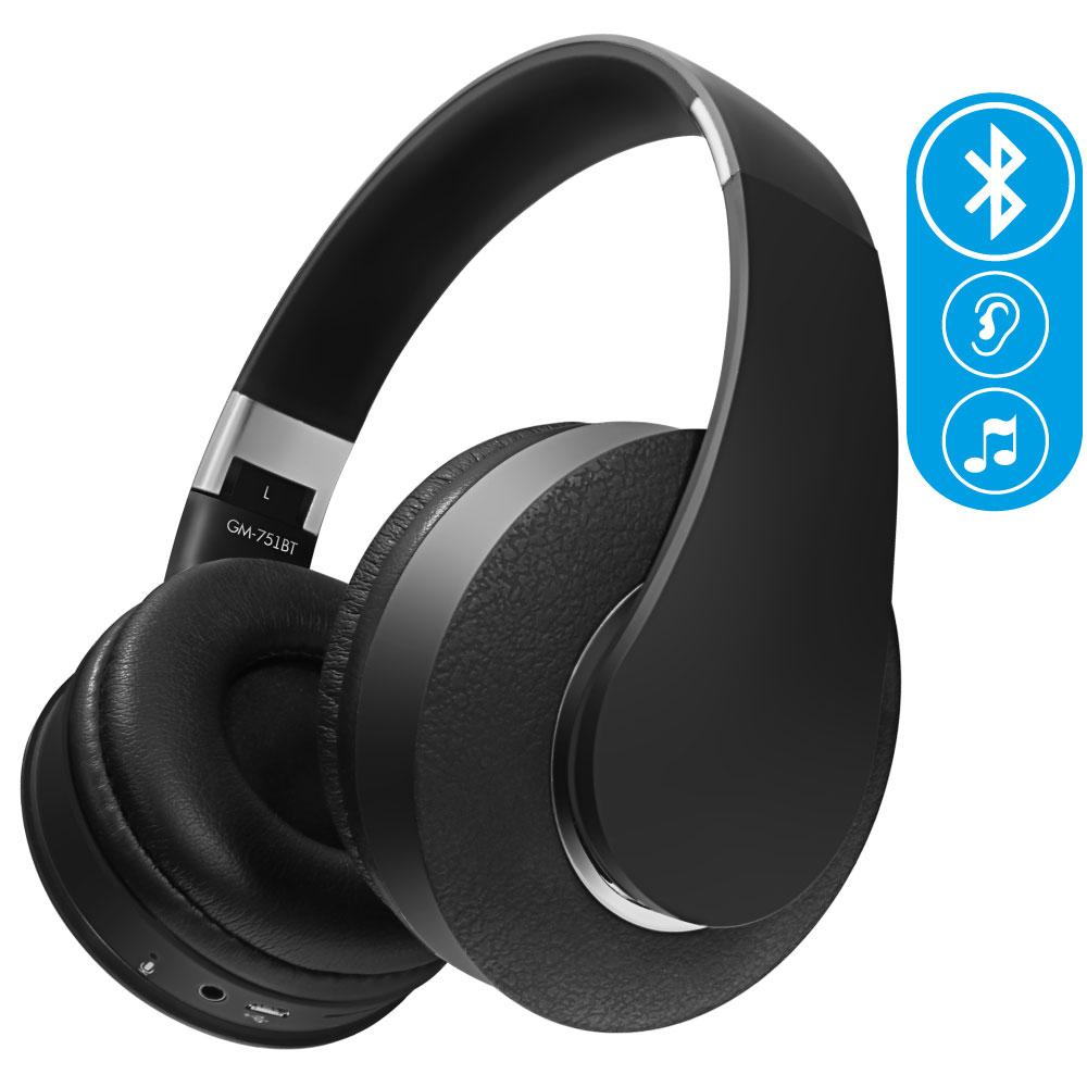 цены на Беспроводные наушники Ginzzu Headphone GM-751BT, черный  в интернет-магазинах