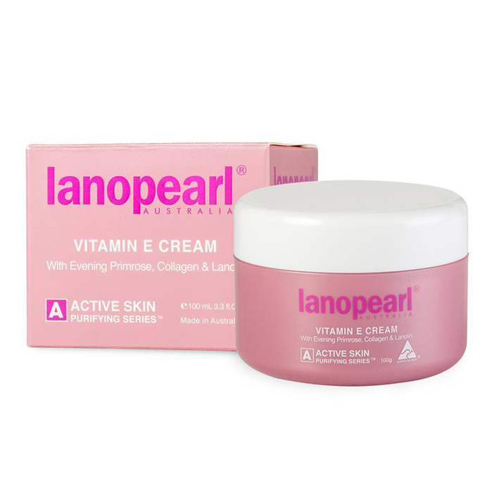 LanopearlКрем лица с витамин С, маслом вечерней примулы, коллагеном и ланолином Vitamin E Cream, 100 мл Lanopearl