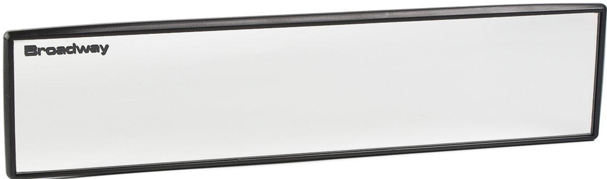 Зеркало заднего вида Broadway, прямое, антибликовое, цвет: черный, 24 см broadway свитер