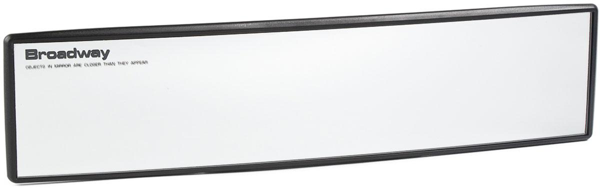 купить Зеркало заднего вида Broadway, панорамное, антибликовое, цвет: черный, 27 см по цене 1482 рублей