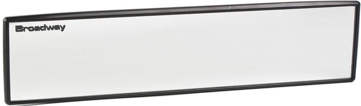 Зеркало заднего вида Broadway, прямое, антибликовое, цвет: черный, 30 см broadway свитер