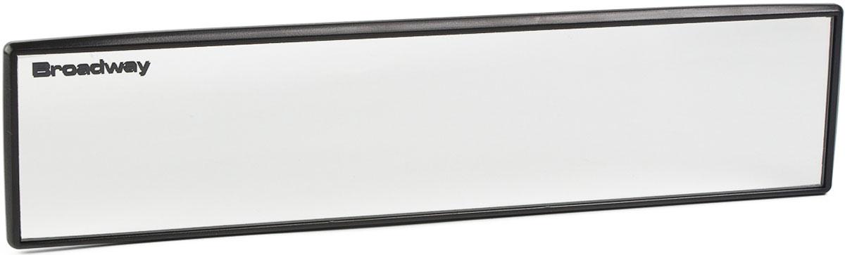 Зеркало заднего вида Broadway, прямое, осветляющее, цвет: черный, 24 см broadway свитер