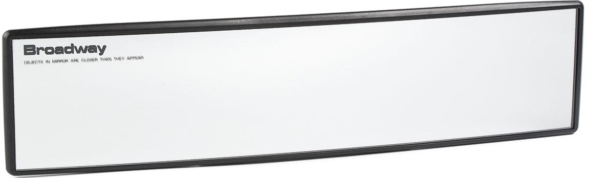 Зеркало заднего вида Broadway, панорамное, осветляющее, цвет: черный, 30 см broadway свитер