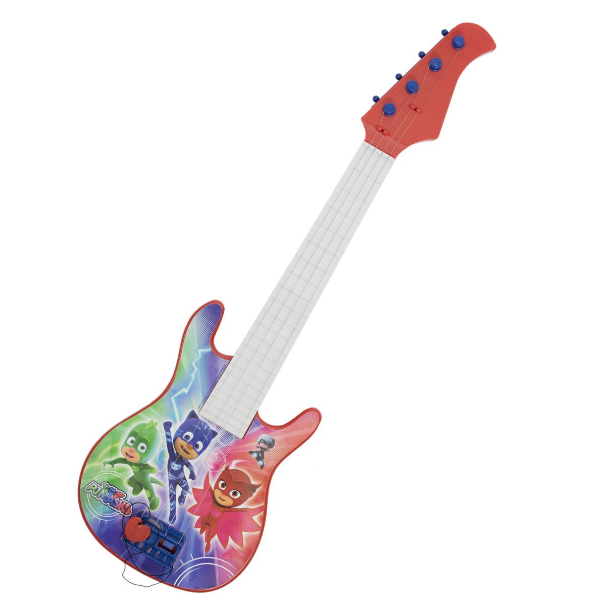 Герои в масках Бас-гитара с медиатором гитара игрушечная росмэн с медиатором вспыш