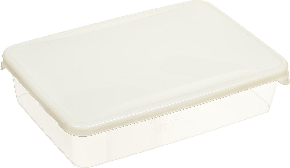Емкость для продуктов Giaretti Браво, цвет: прозрачный, бежевый, 0,9 л емкость для продуктов giaretti браво цвет белый прозрачный 900 мл gr1068
