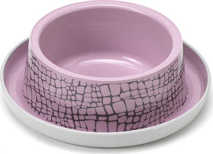 Миска для животных Moderna Trendy Dinner. Дикая природа, цвет: розовый, 17 x 5,3 см миска для животных moderna trendy dinner люксори пет 27 x 16 5 x 6 см