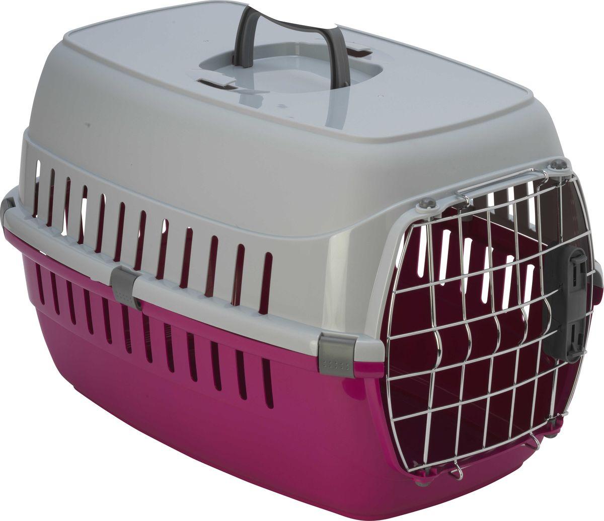 Переноска для животных Moderna Roadrunner 2, для авиаперевозок, замок IATA, цвет: ярко-розовый, 58 x 35 x 37 см миска для животных moderna trendy dinner люксори пет 27 x 16 5 x 6 см
