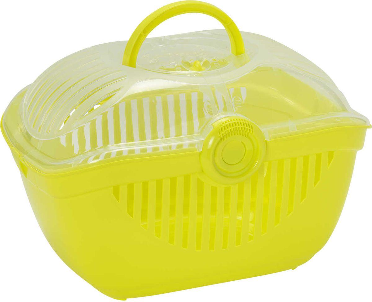 Переноска для животных Moderna Top Runner, цвет: лимонный, 48 x 36 x 32 см миска для животных moderna trendy dinner люксори пет 27 x 16 5 x 6 см
