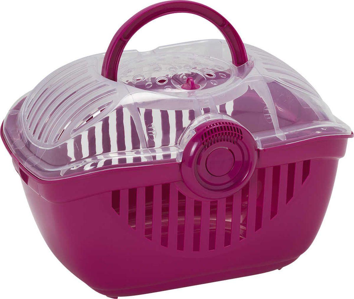 Переноска для животных Moderna Top Runner, средняя, цвет: ярко-розовый, 39 x 29 x 25 см миска для животных moderna trendy dinner люксори пет 27 x 16 5 x 6 см