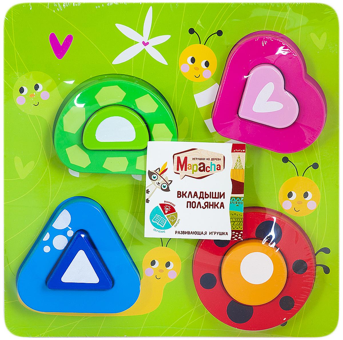 Mapacha Пазл для малышей Вкладыши Полянка mapacha пазл для малышей вкладыши формы и цвета