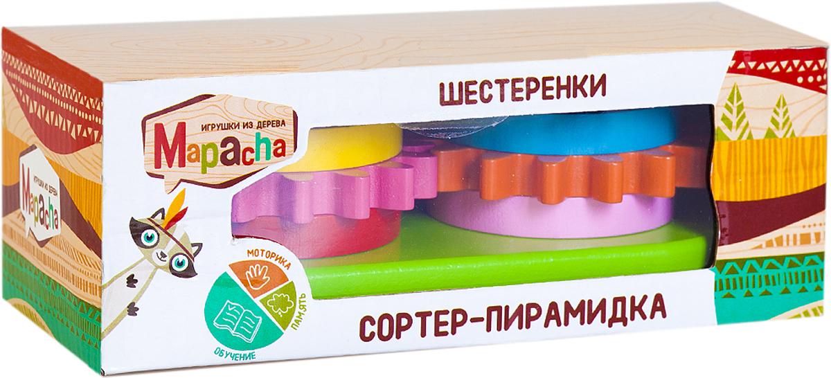 Mapacha Обучающая игра Сортер-пирамидка Шестеренки