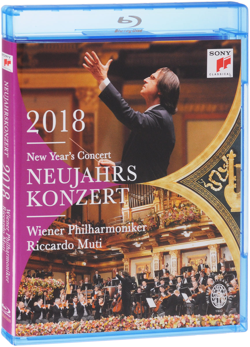 Riccardo Muti, Vienna Philharmonic Orchestra: New Year's Concert 2018 (Blu-ray) риккардо мути vienna philharmonic orchestra riccardo muti vienna philharmonic orchestra new year s concert 2018 2 cd