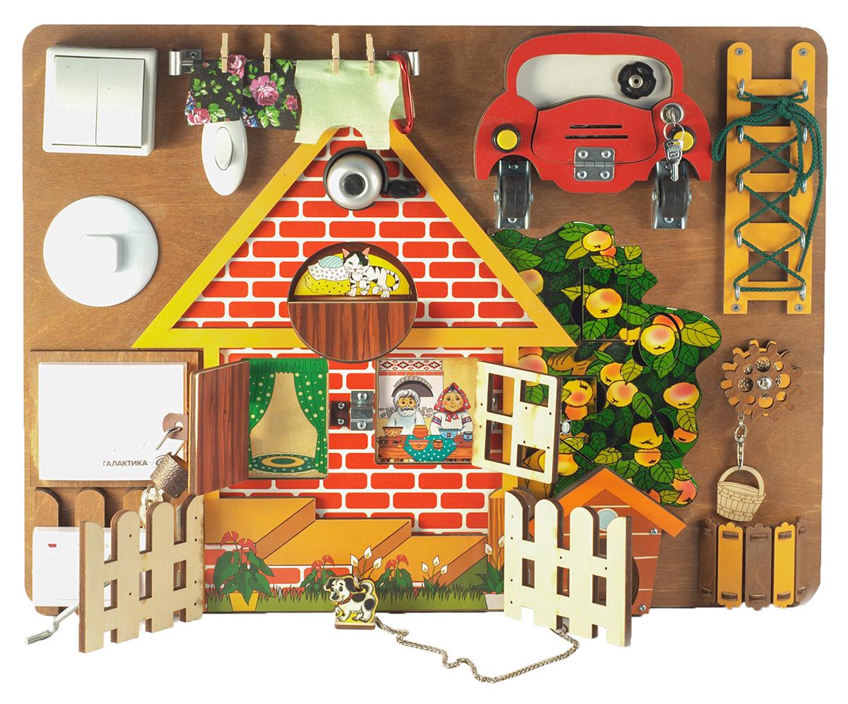 Нескучные игры Бизиборд Загородный дом со звонком нескучные игры замочки деревенский двор