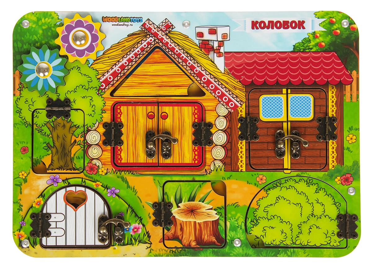 WoodLand Toys Рамка-вкладыш Колобок woodland рамка вкладыш woodland кто где живёт
