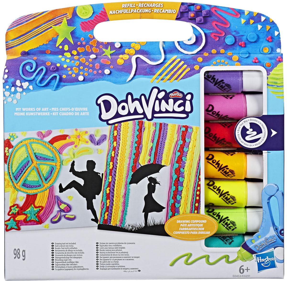 Play-Doh Набор для творчества ДаВинчи Трафареты + Картриджи №2 play doh набор для творчества туалетный столик
