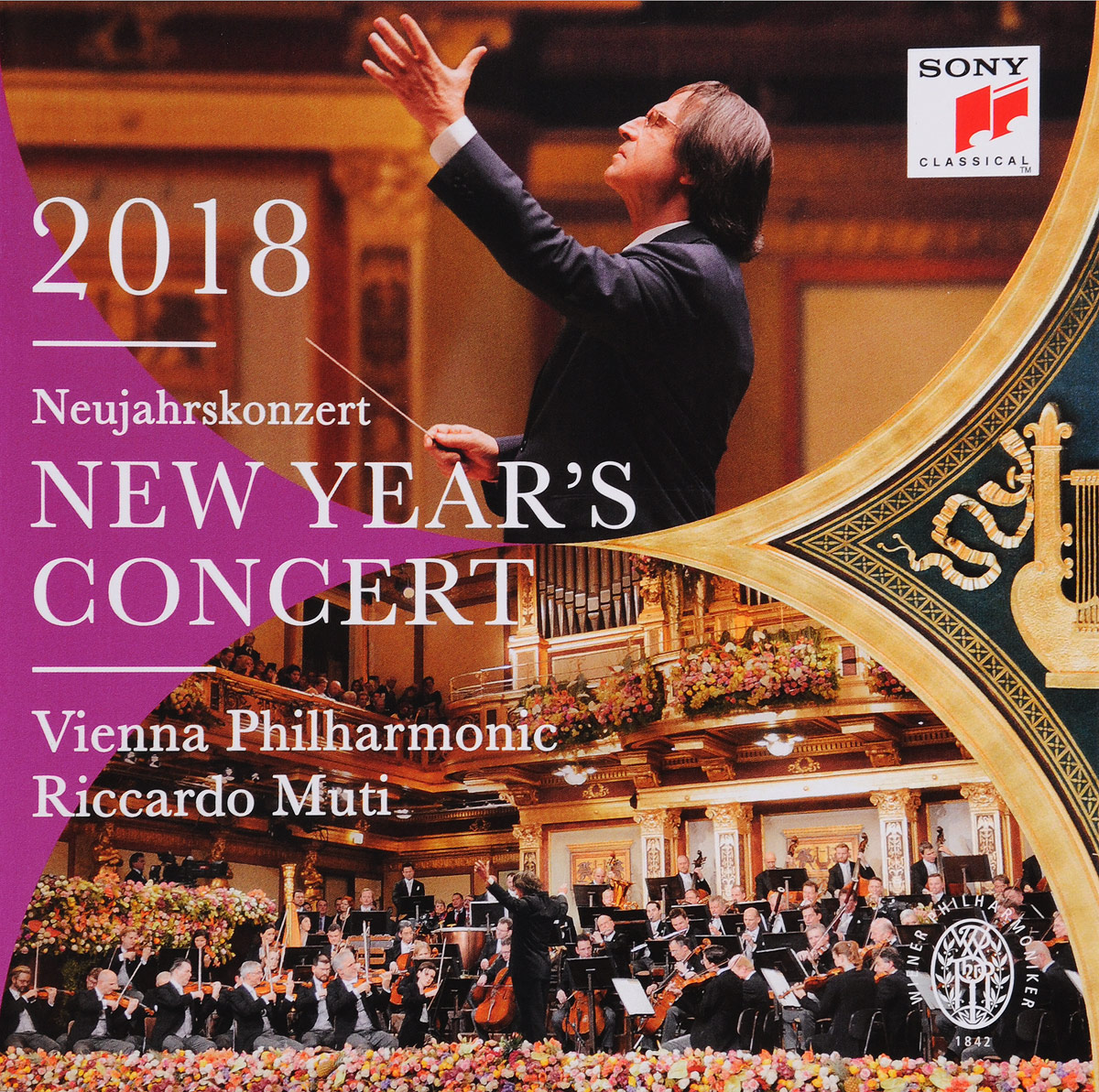 Riccardo Muti, Vienna Philharmonic Orchestra. New Year's Concert 2018 (2 CD)