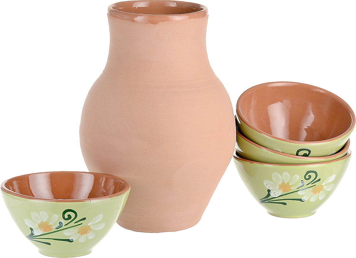 Набор Борисовская керамика: Крынка + Пиала, 4 шт пиала борисовская керамика классика 250 мл мрм14458418