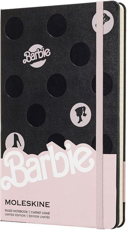 Moleskine Блокнот Barbie 120 листов в линейку цвет розовый черный