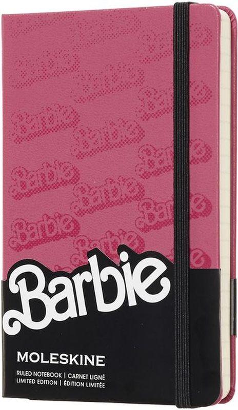 Moleskine Блокнот Barbie 96 листов в линейку цвет розовый черный