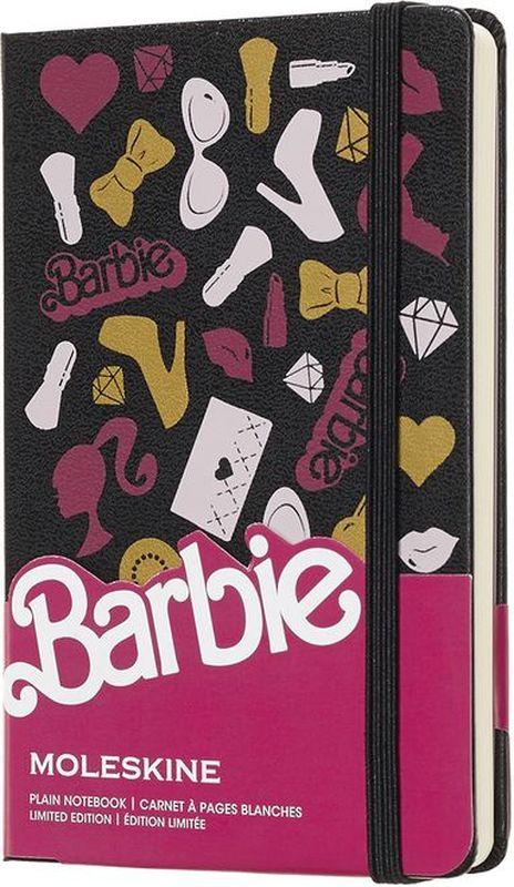 Moleskine Блокнот Barbie 96 листов без разметки цвет розовый черный