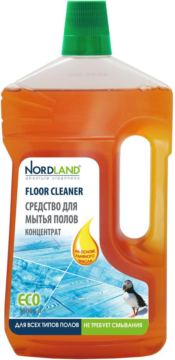 Cредство для мытья полов Nordland, концентрированное, на основе льняного масла, 1 nordland cредство для мытья полов концентрат 1л