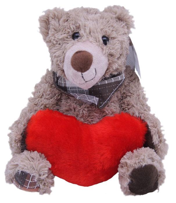 Magic Bear Toys Мягкая игрушка Мишка Рой с сердцем 23 см