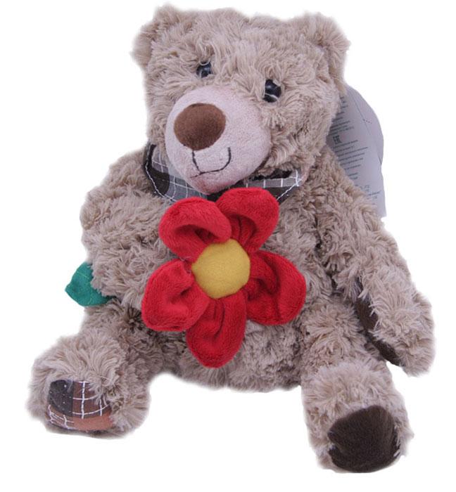 Magic Bear Toys Мягкая игрушка Мишка Рой с цветком 23 см