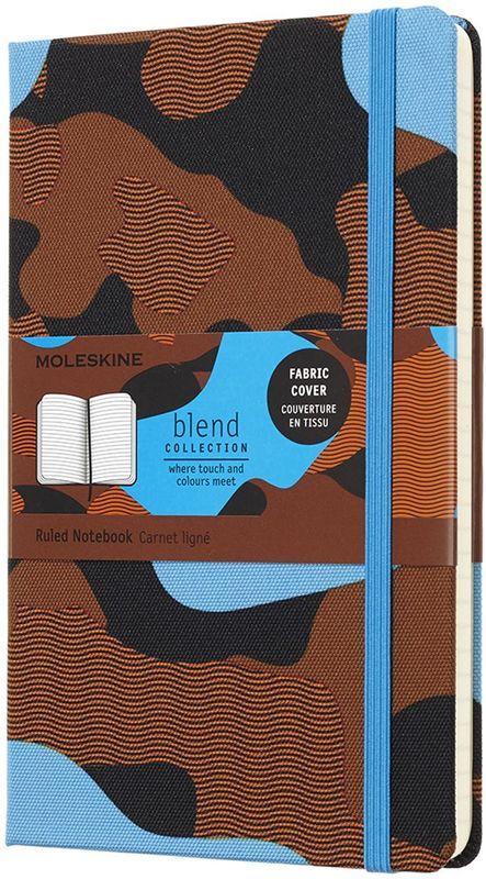 Moleskine Блокнот Blend 120 листов в линейку цвет голубой оранжевый черный
