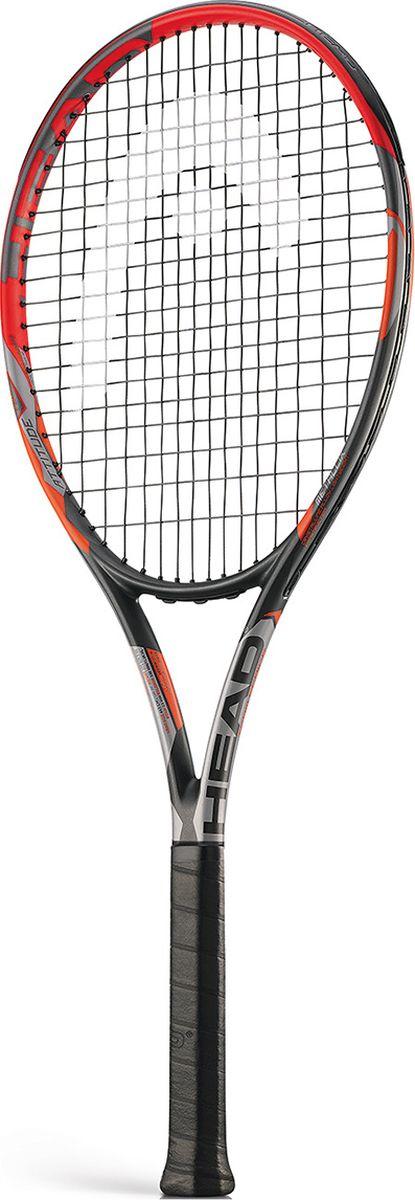 Ракетка теннисная HEAD MX Attitude Tour, цвет: оранжевый, ручка 3 теннисная ракетка prince 7t35