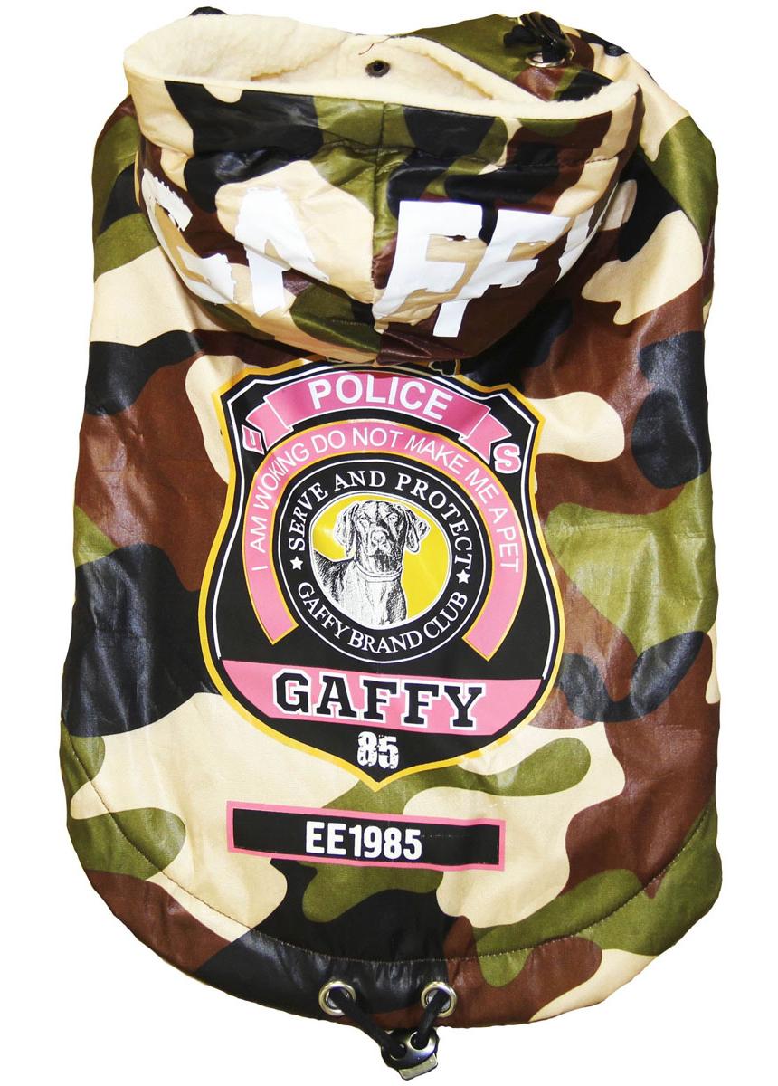 "Куртка-пуховик для собак Gaffy Pet ""Police"", унисекс. Размер M"