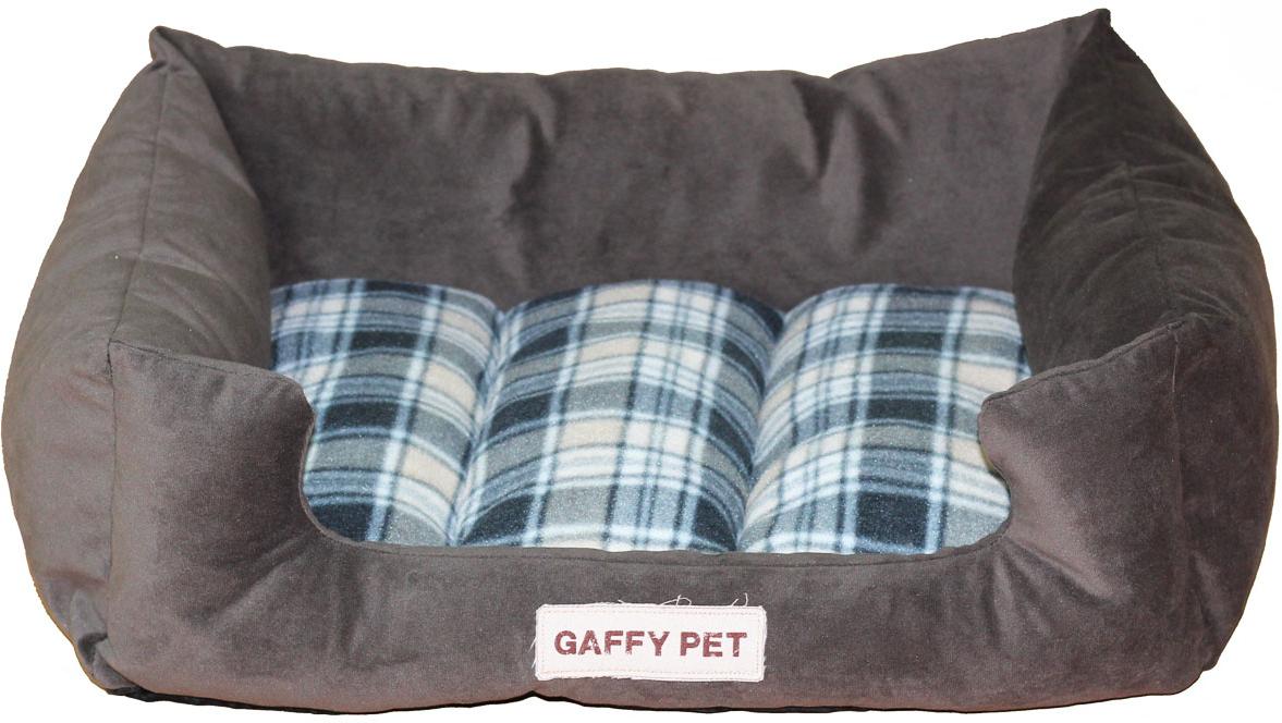 """Лежак для животных Gaffy Pet """"Клетка Plaid"""", цвет: серый, 70 х 55 х 23 см"""