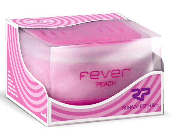 Ароматизатор воздуха Runway Fever. Peach, цвет: сиреневый ароматизатор воздуха runway fever vanilla цвет оранжевый