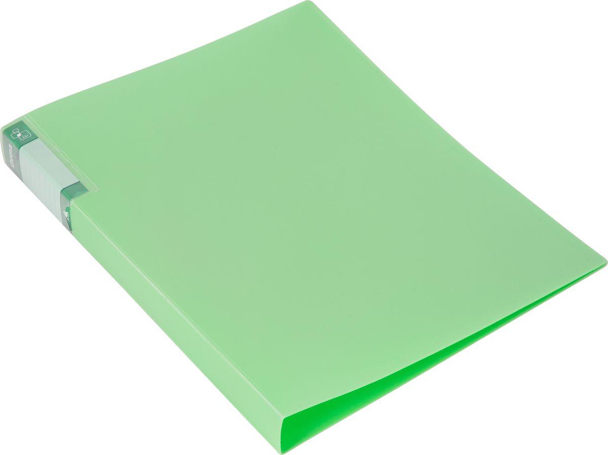 Бюрократ Папка с зажимом Gems А4 цвет светло-зеленый hidden gems