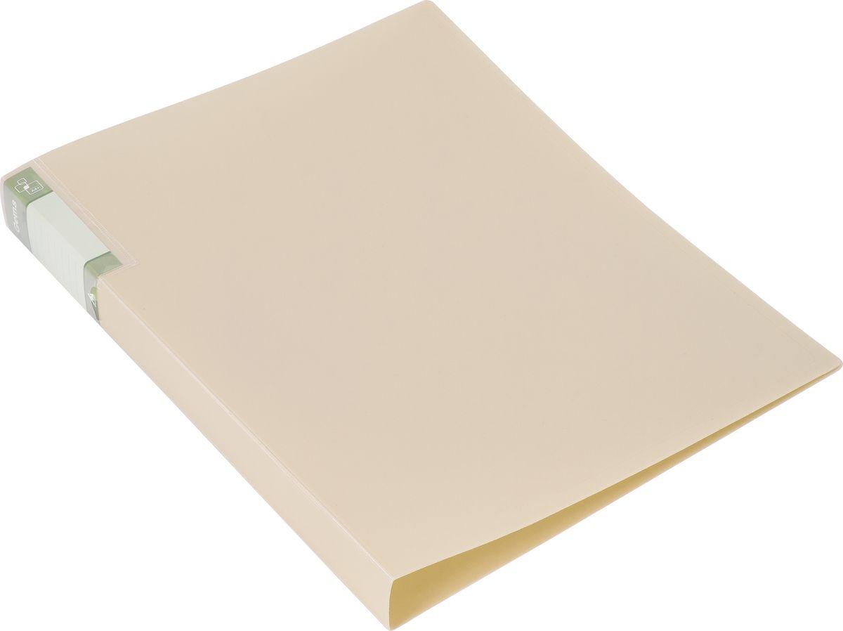 Бюрократ Папка с зажимом Gems А4 цвет бежевый hidden gems