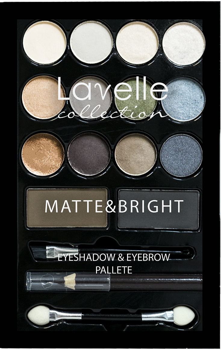 Lavelle Collection набор NB-08 В (тени-12тонов,тени д/бровей-2 шт, карандаш д/глаз-1 шт) 94г тени для век bbrose набор для макияжа глаз и бровей smokey eyes 369