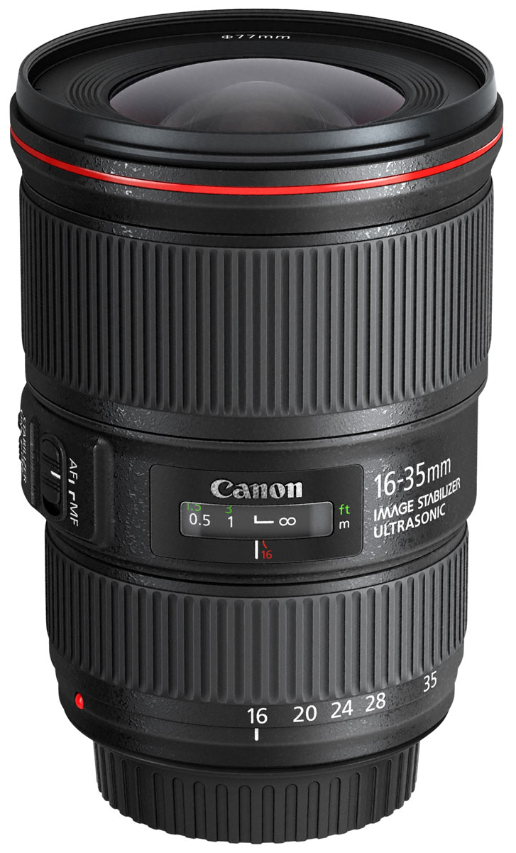 Объектив Canon EF 16-35 mm 4L IS USM, Black