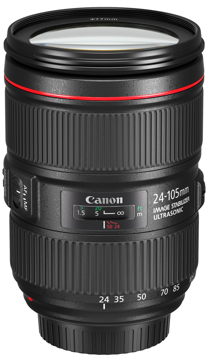 Фото - Объектив Canon EF 24-105 mm 4L IS II USM, Black видео