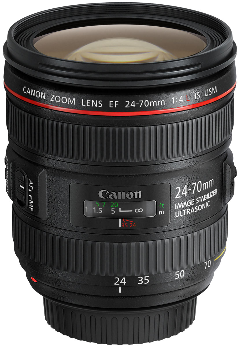 Объектив Canon EF 24-70 mm 4L IS USM, Black