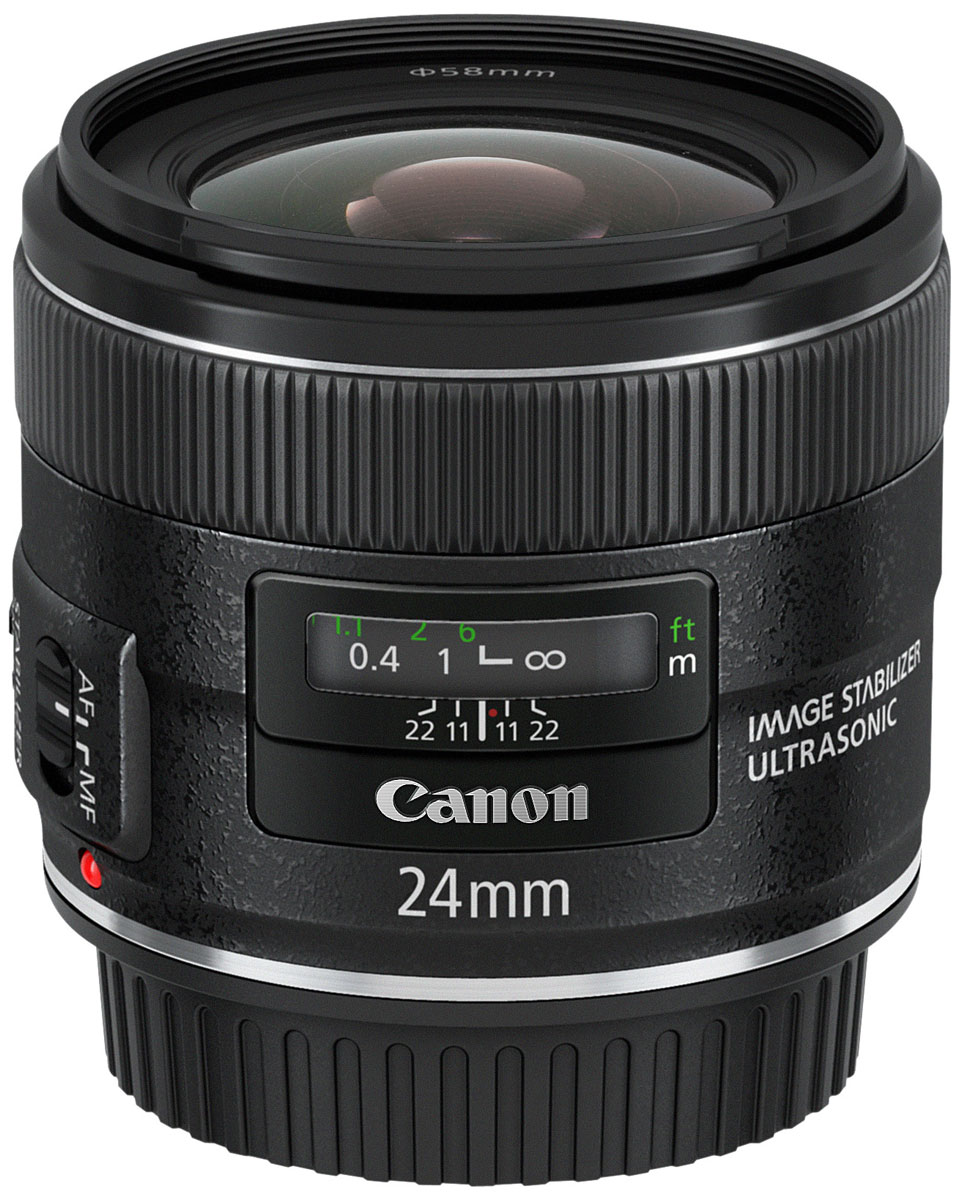 Canon EF 24 mm 2.8 IS USM, Black объектив
