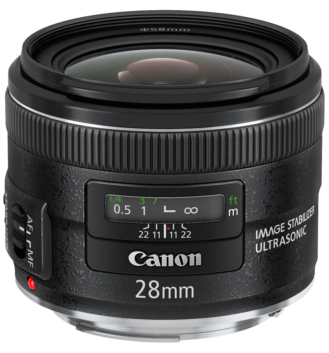 Canon EF 28 mm 2.8 IS USM, Black объектив