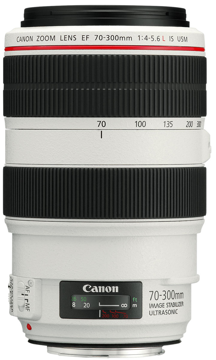 Объектив Canon EF 70-300 mm 4-5.6L IS USM, White