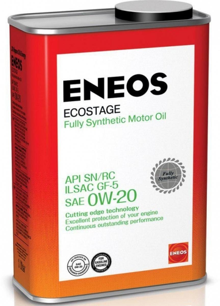 """Масло моторное ENEOS """"Ecostage"""", синтетическое, 0W-20, 1 л"""