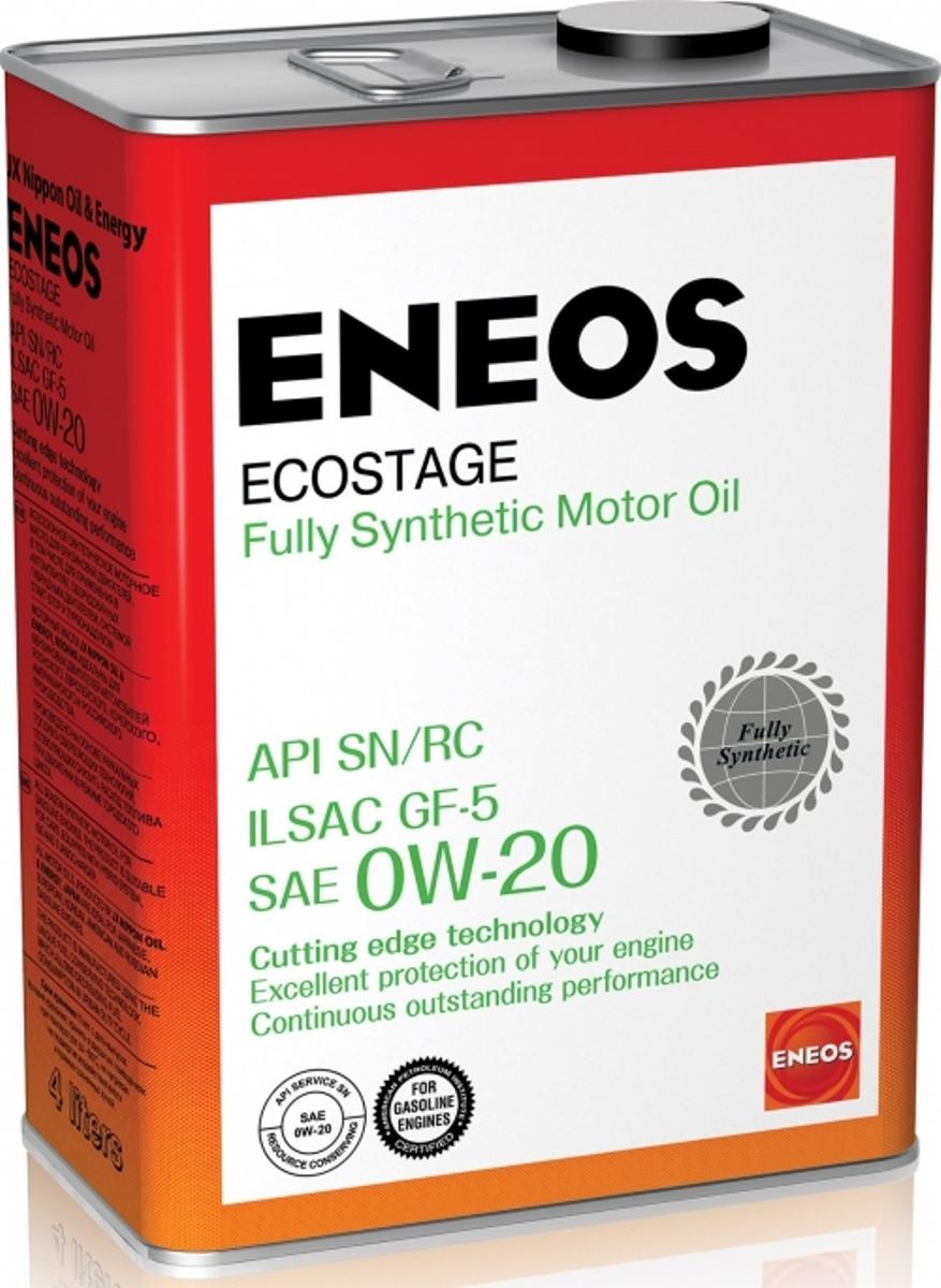 """Масло моторное ENEOS """"Ecostage"""", синтетическое, 0W-20, 4 л"""